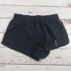 Reebok womens black and pink shorts size large